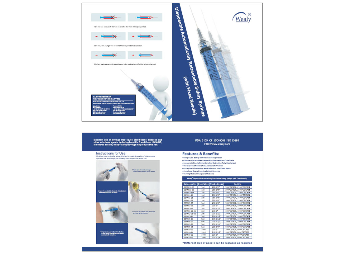 Safety Syringe Catalogue